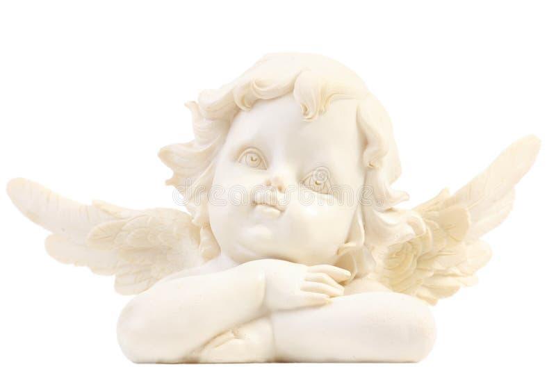 天使小雕象一点 库存图片