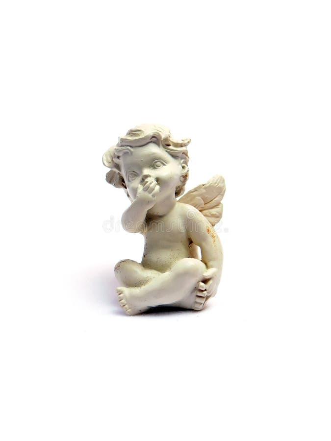 天使小雕象 库存图片