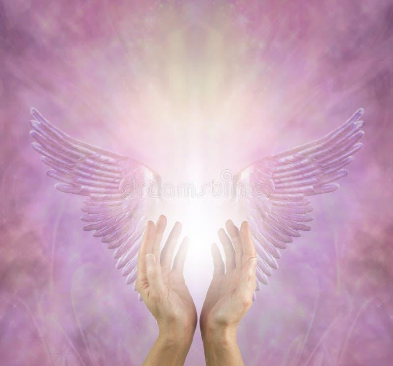 天使总是帮助我 皇族释放例证