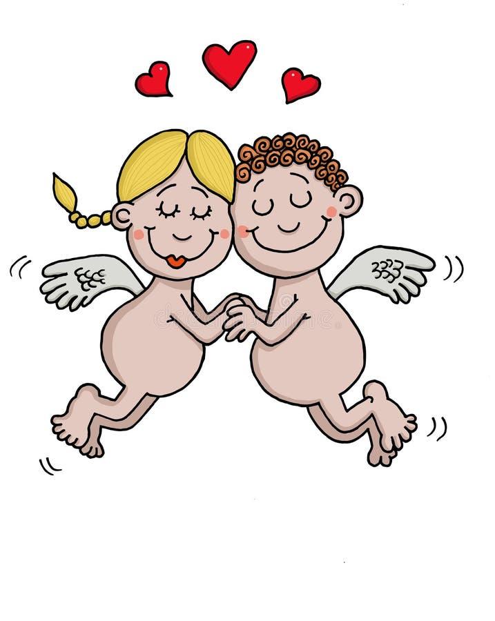 天使恋爱了 皇族释放例证