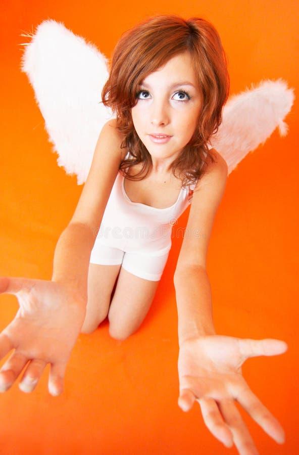 天使恳求 免版税库存照片