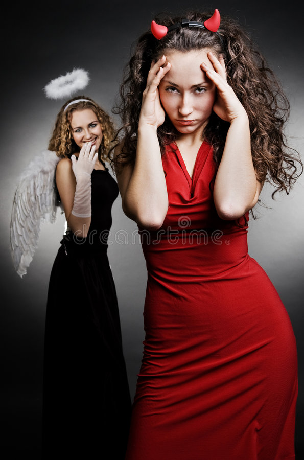 天使恶魔 免版税库存照片