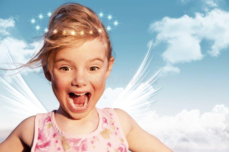 天使惊奇了 免版税库存图片