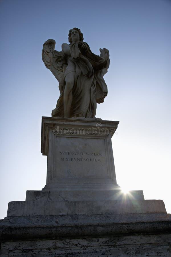 天使意大利罗马雕塑 免版税库存照片