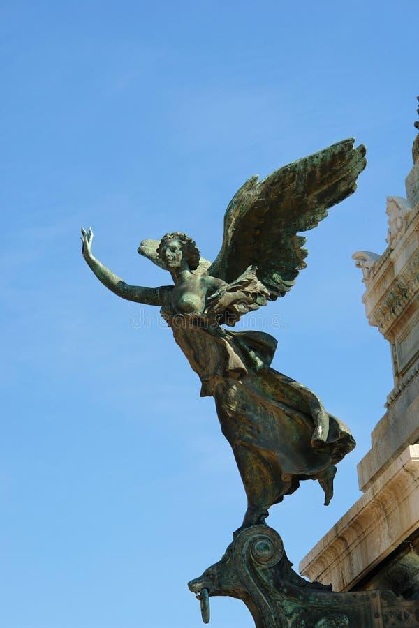 天使意大利罗马雕象 免版税库存图片
