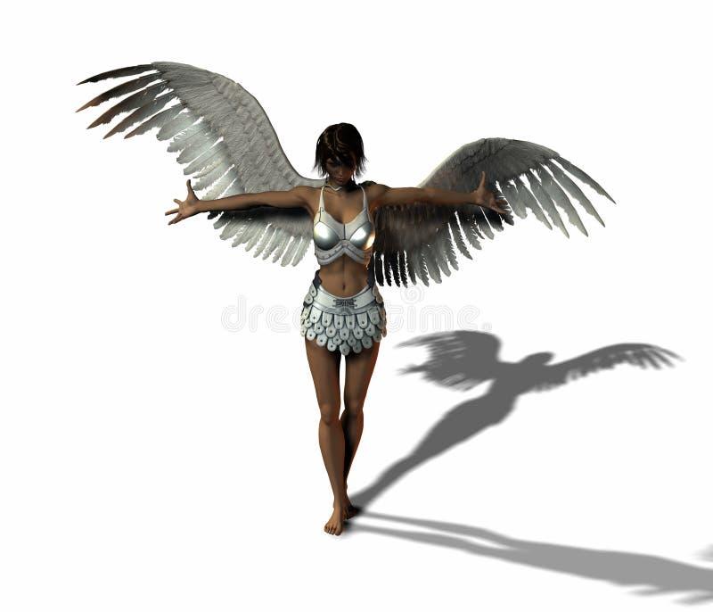 天使战士 向量例证