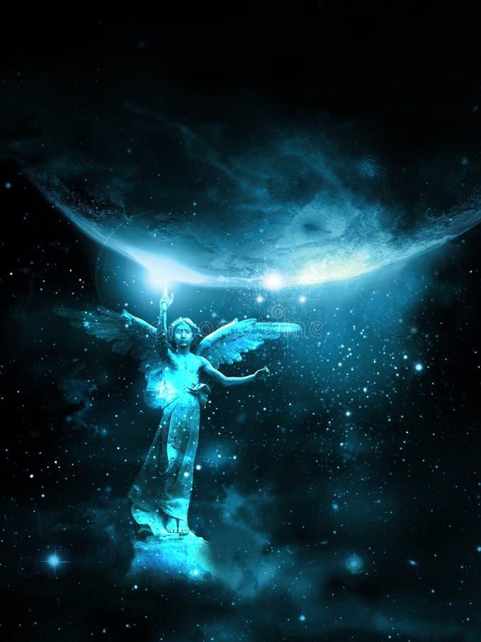 天使接触 向量例证