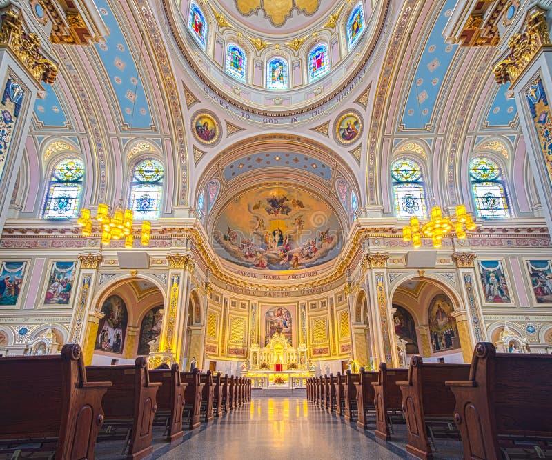 天使教会的圣玛丽 免版税库存照片