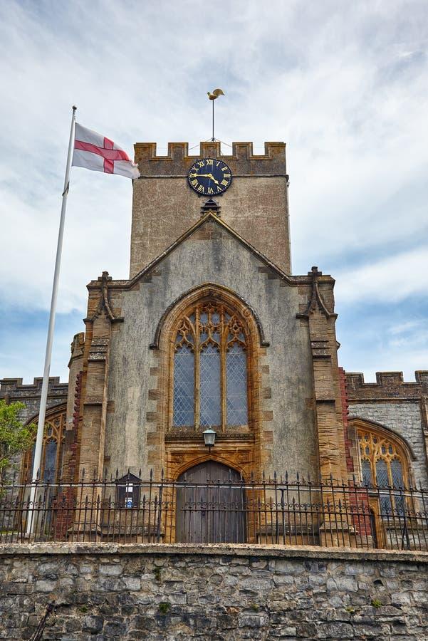 天使教会迈克尔st Lyme regis 西多塞特 英国 图库摄影