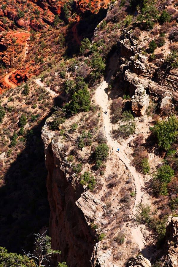 天使明亮的峡谷全部远足者线索 图库摄影