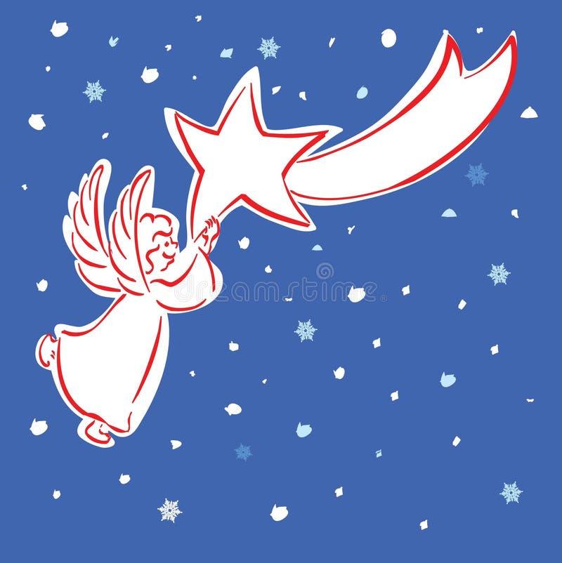 天使星形 皇族释放例证