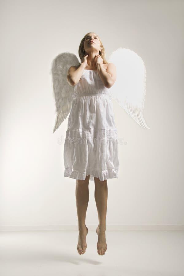 天使服装妇女 库存图片