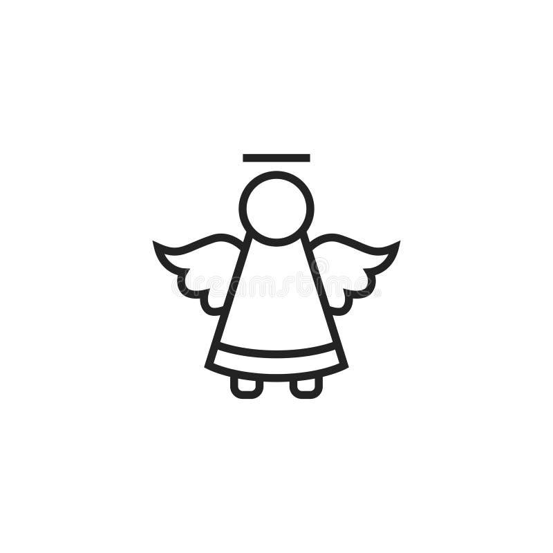 天使概述传染媒介象、标志或者商标 皇族释放例证