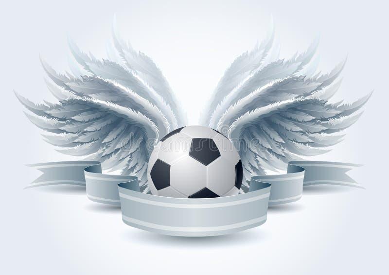天使横幅足球 库存例证