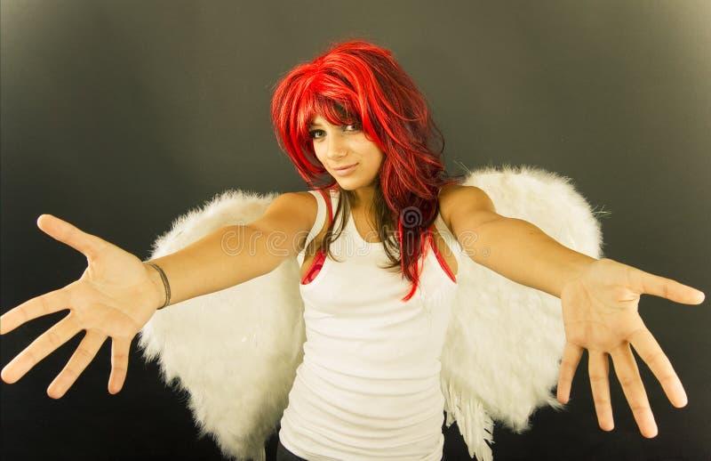 天使欢迎 库存照片