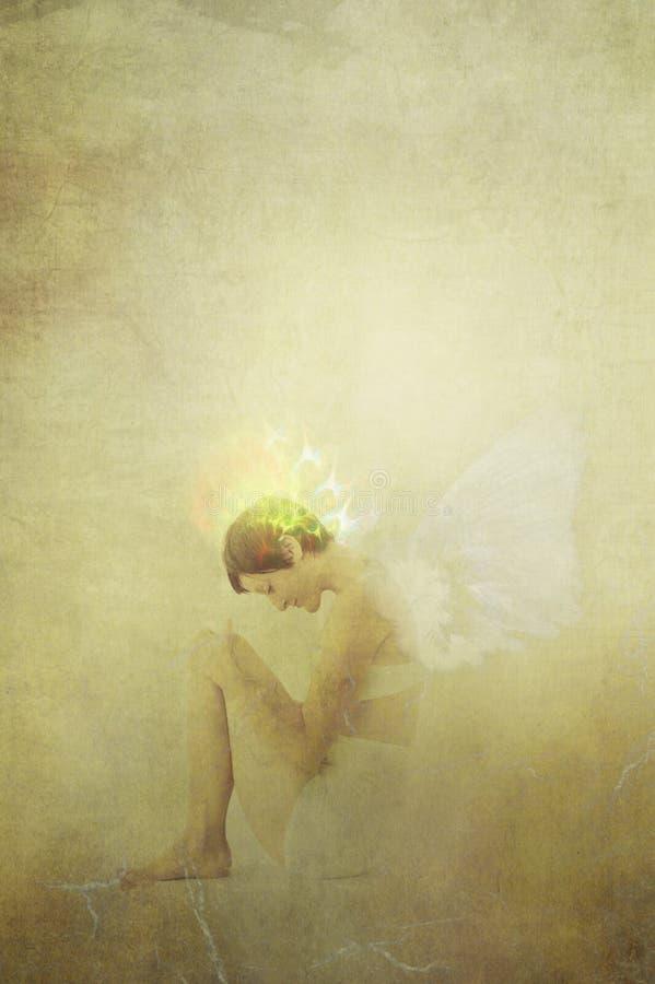 天使气氛妇女 库存照片