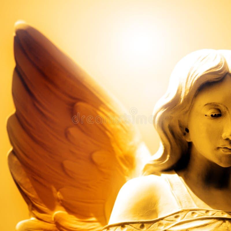 天使爱和平和希望  库存图片