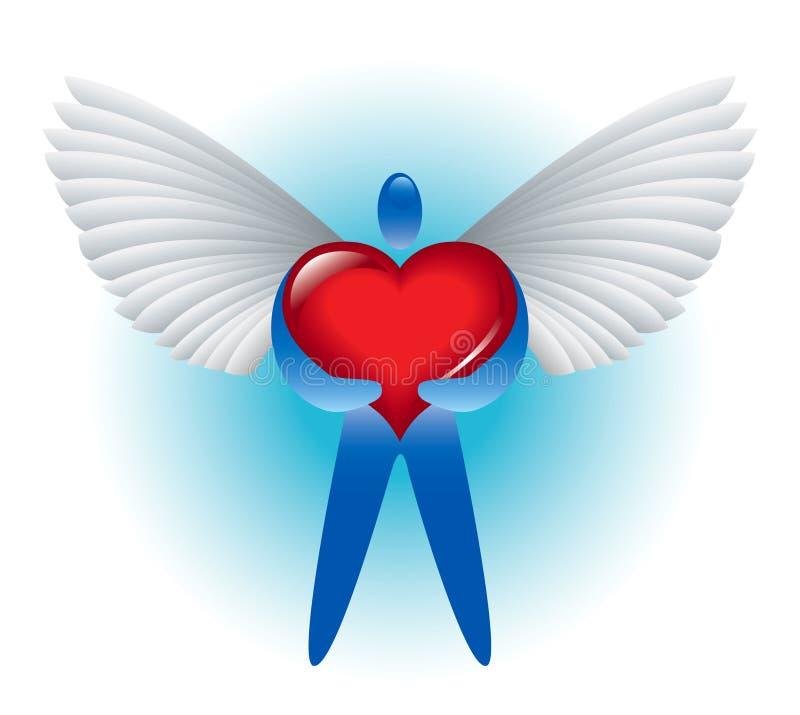 天使爱 库存例证