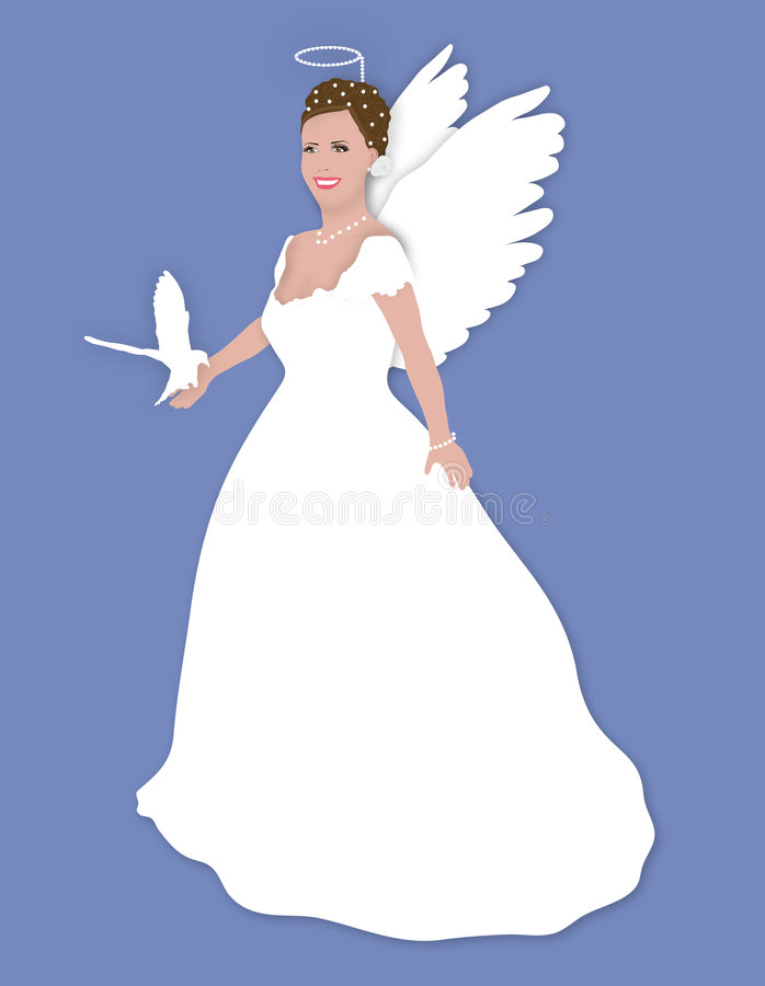 天使玩偶 库存例证