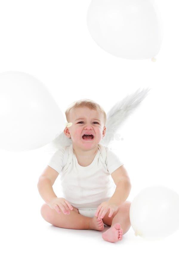天使男婴 库存照片