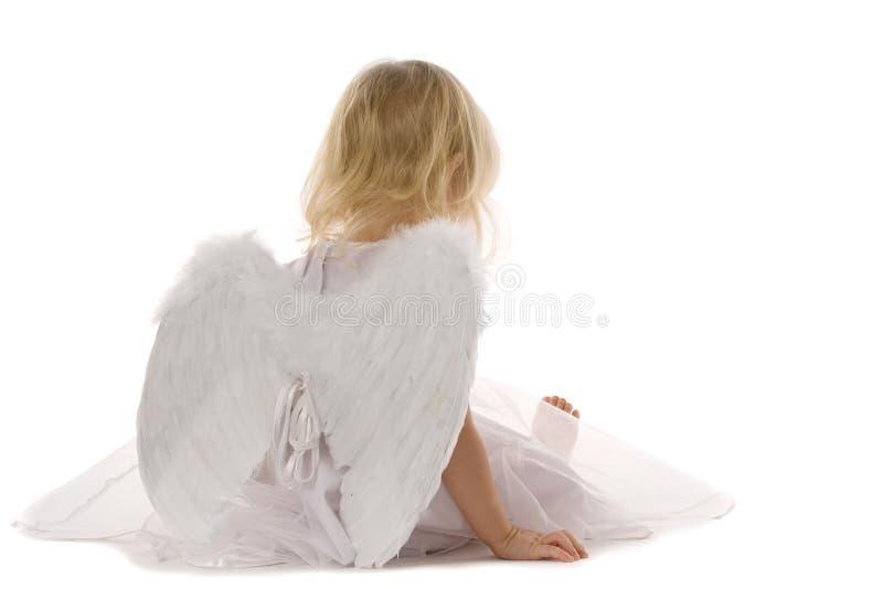 天使疲倦了 免版税库存照片
