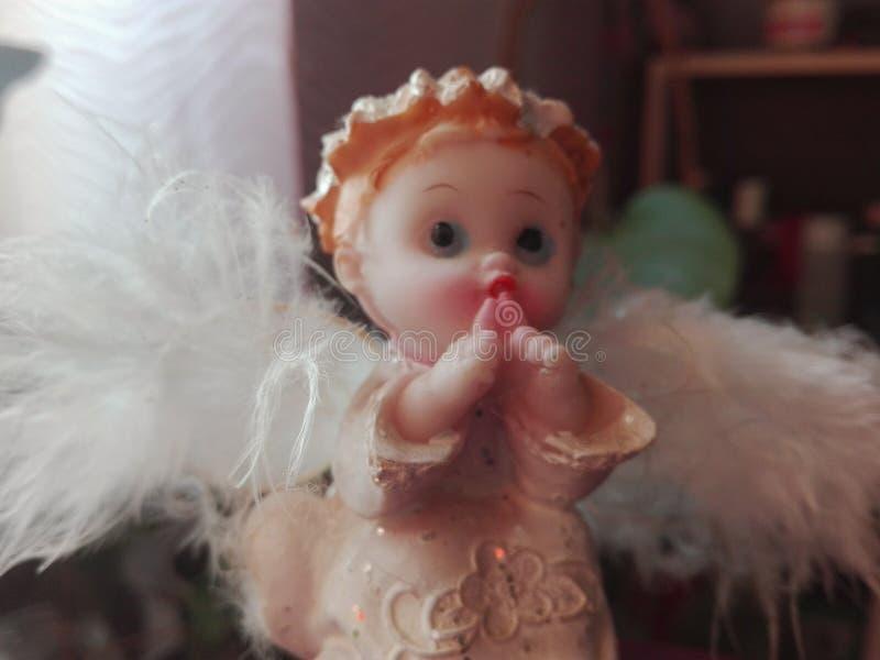 天使白色家庭爱私通 免版税库存照片