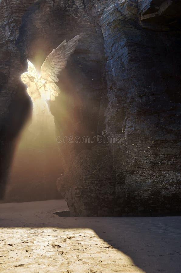 天使的出现 向量例证