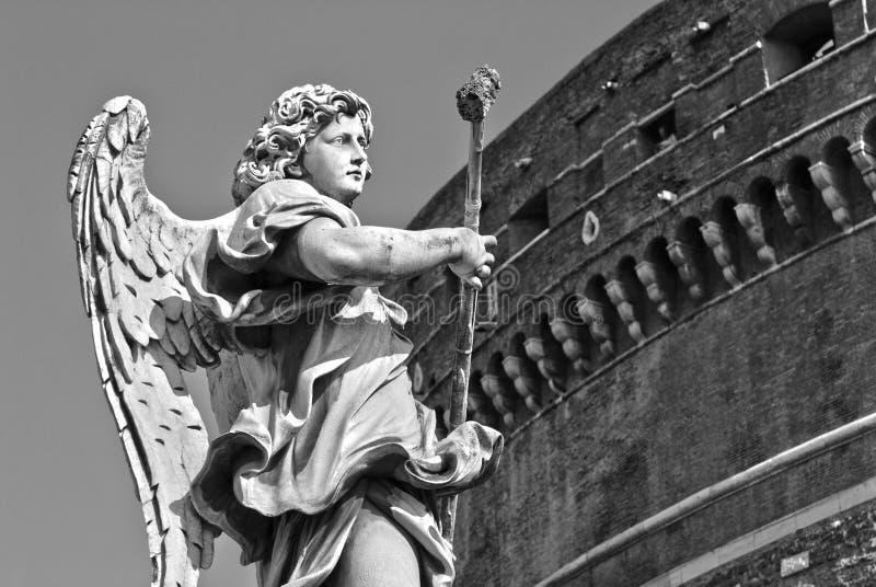 天使的雕塑 罗马 意大利 库存图片