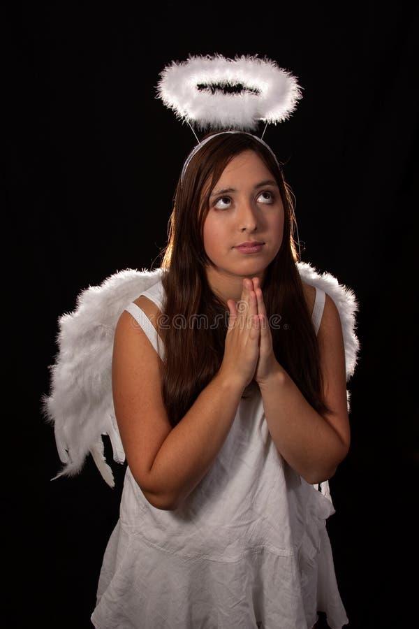 天使祈祷 免版税库存图片