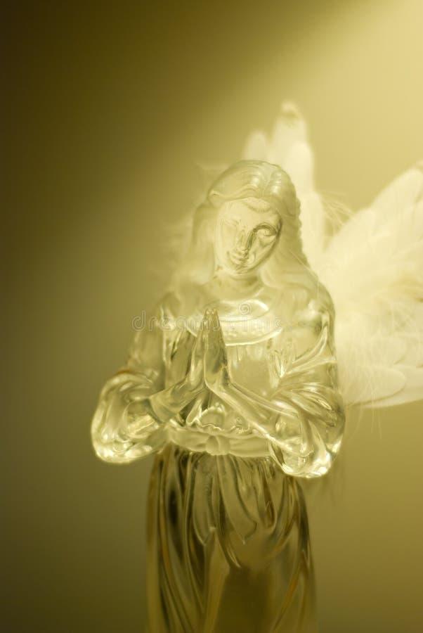 天使祈祷 免版税库存照片