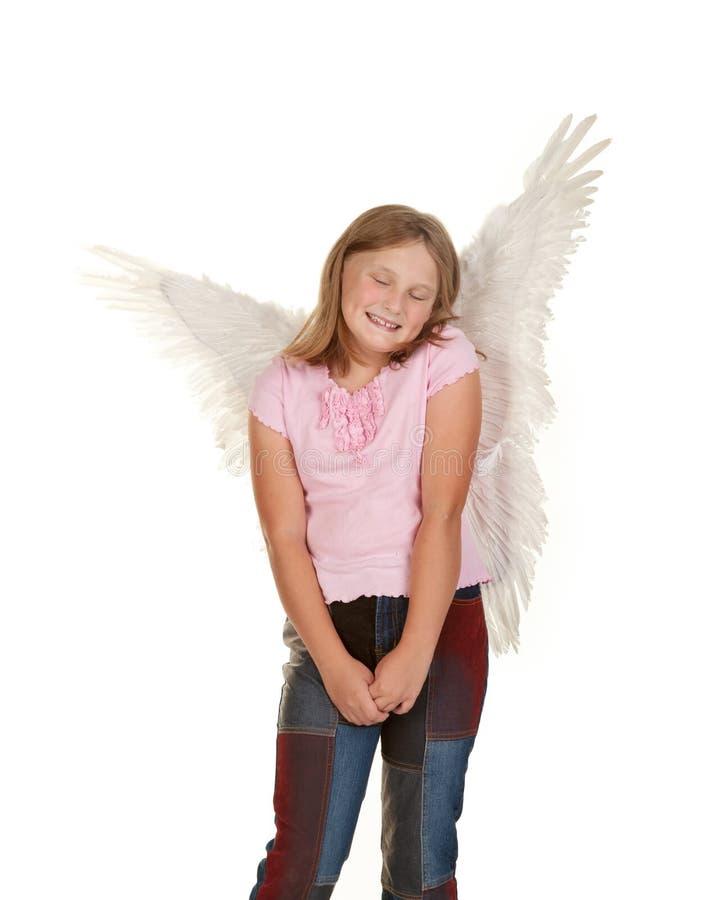 天使神仙的女孩清白的人 免版税库存照片