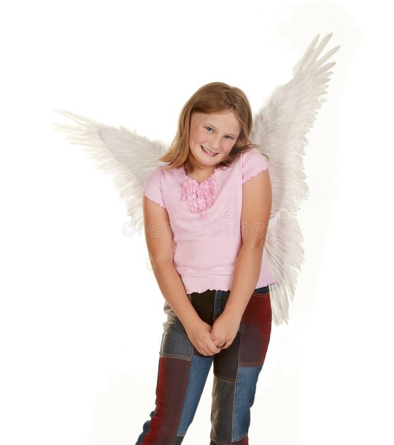 天使神仙的女孩甜点 库存图片