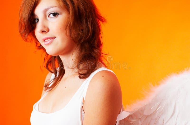 天使纵向 库存照片