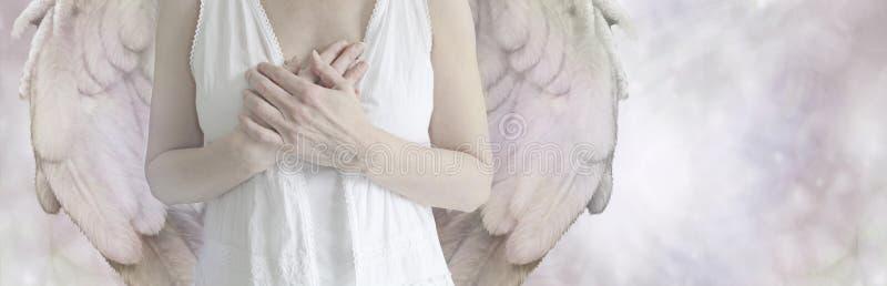 天使网站横幅 免版税图库摄影