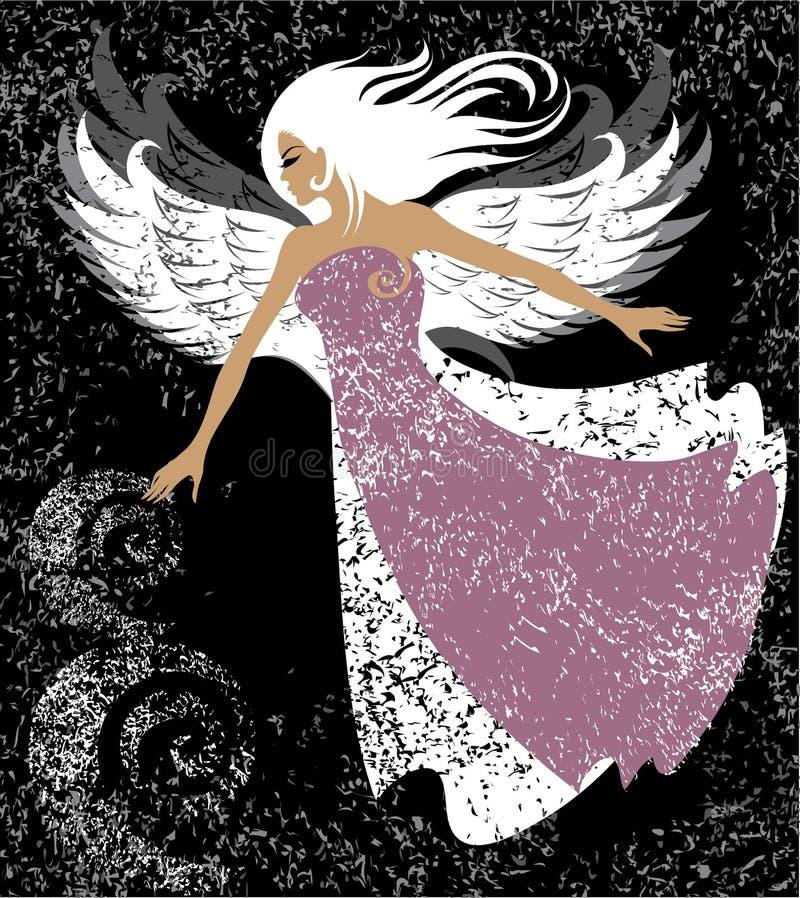 天使美丽的女孩 库存例证