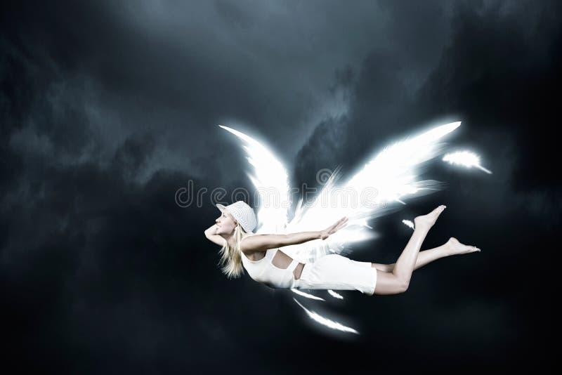 天使美丽的妇女 免版税库存照片