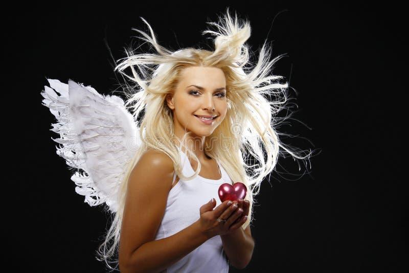 天使美丽的纵向 免版税库存照片