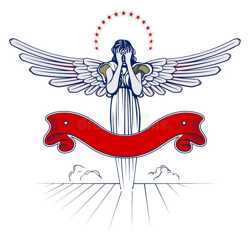 天使翼妇女 皇族释放例证
