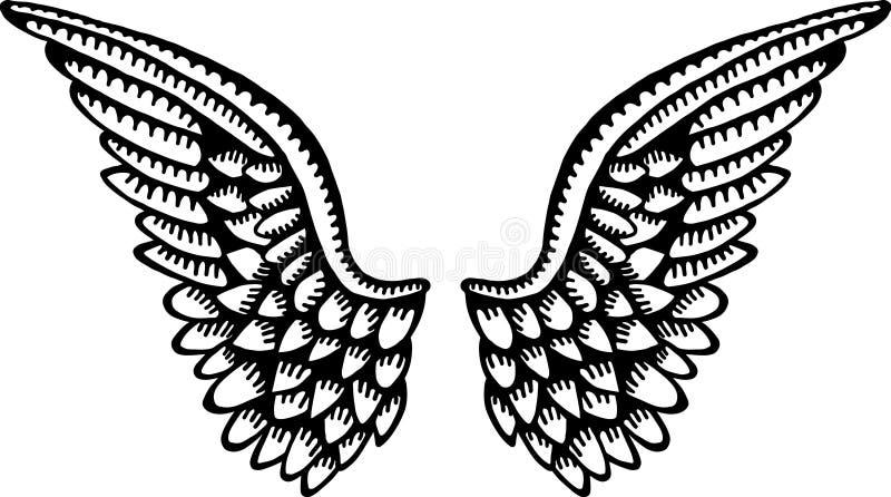 天使翼 向量例证