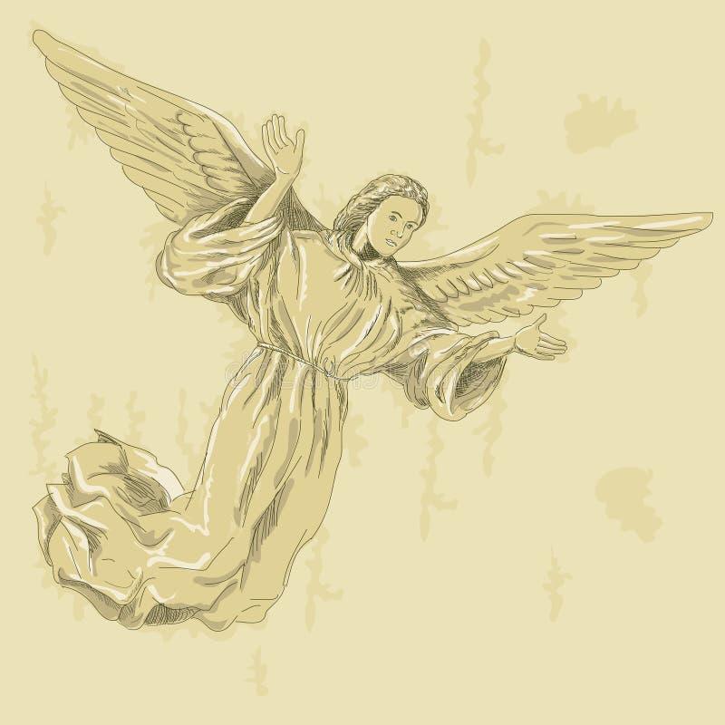 天使胳膊传播 库存例证