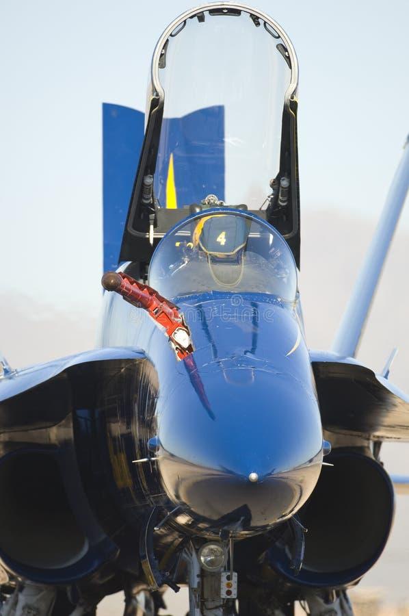 天使蓝色地面喷气机 免版税库存照片