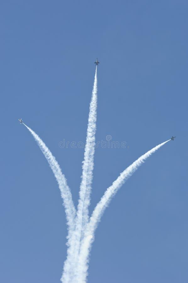 天使蓝色的喷气式飞机三 库存照片