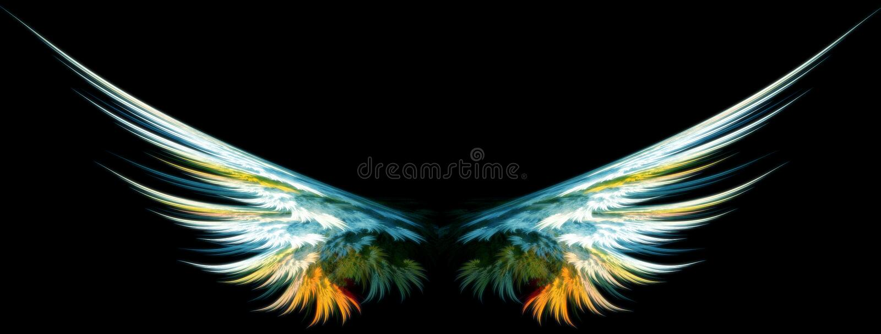 天使蓝色翼 向量例证