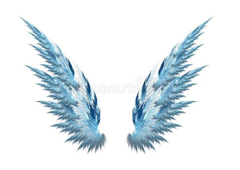 天使蓝色翼 库存例证