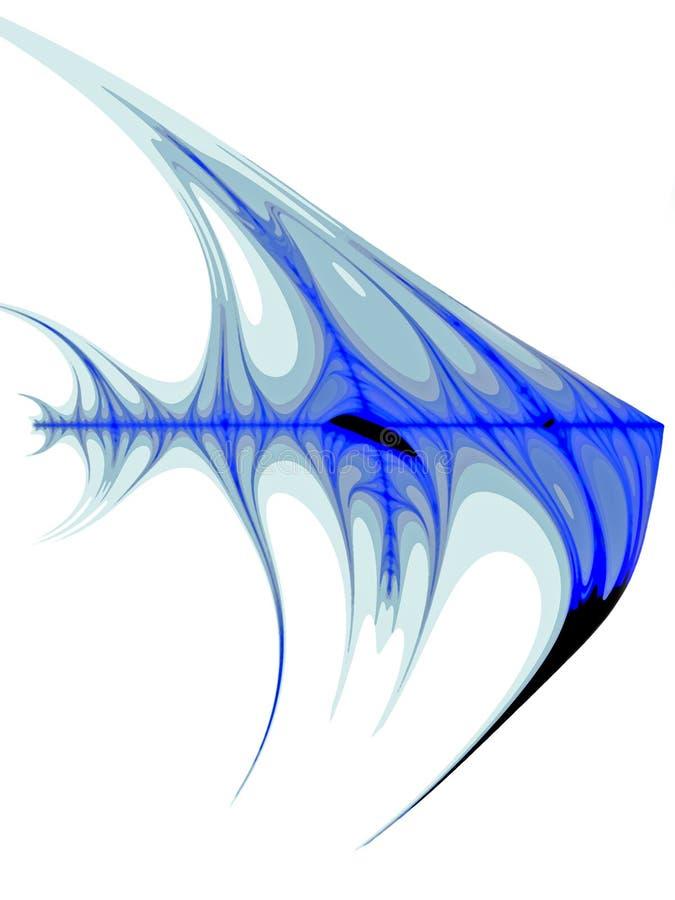 天使蓝色鱼 库存例证