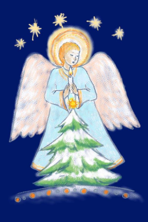 天使蜡烛光 库存例证