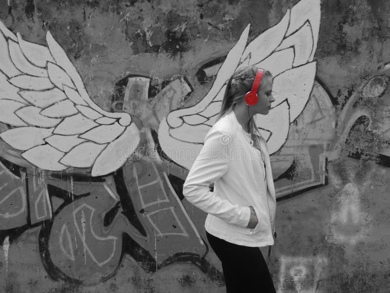 天使被中断 免版税库存照片