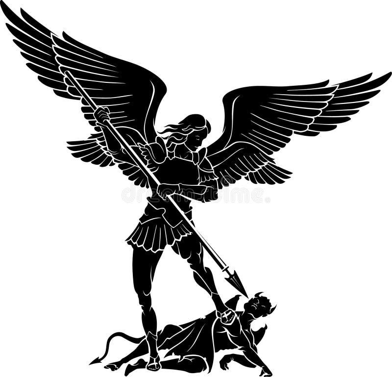 天使迈克尔 皇族释放例证