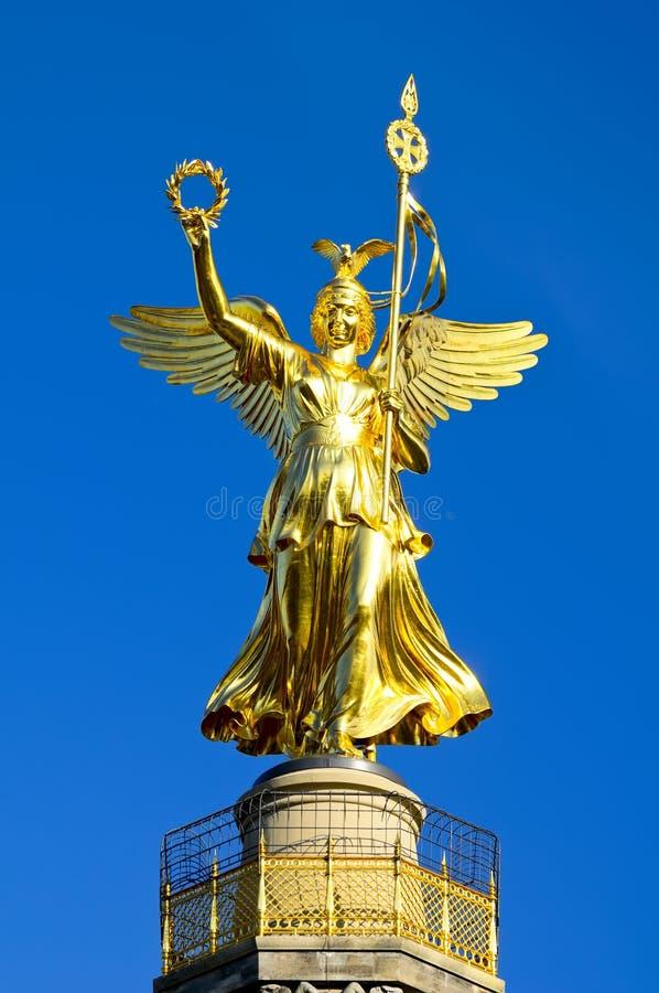 天使金黄的柏林 免版税库存照片