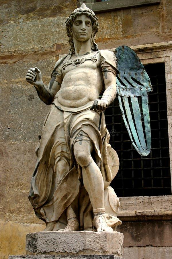 天使铜石头 免版税库存照片